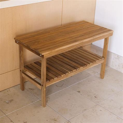 rigid work bench 25 quot x 14 quot teak deluxe rigid bench teakworks4u