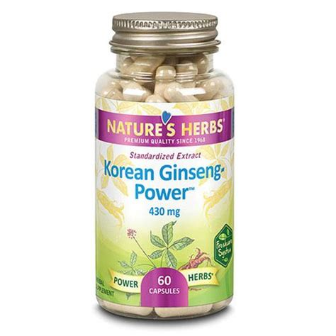 Dijamin Nature S Health Korean Ginseng 500mg 100 Capsules nature s herbs ginseng power korean 430 mg 60 capsules evitamins