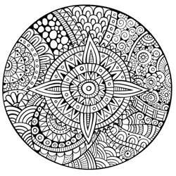 mandala etoile lignes epaisses mandalas coloriages