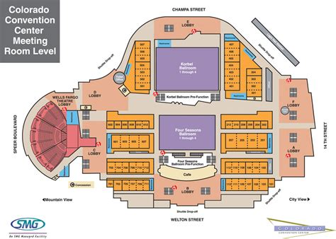 colorado convention center floor plan ccc mile high korbel ballroom central business