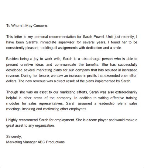 Great Endorsement Letter recommendation letter for employment regularization reference letter employee