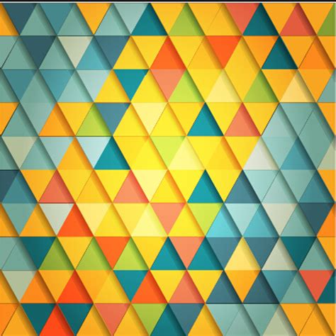 triangle color pattern vector shiny colored triangle pattern vector 02 vector pattern