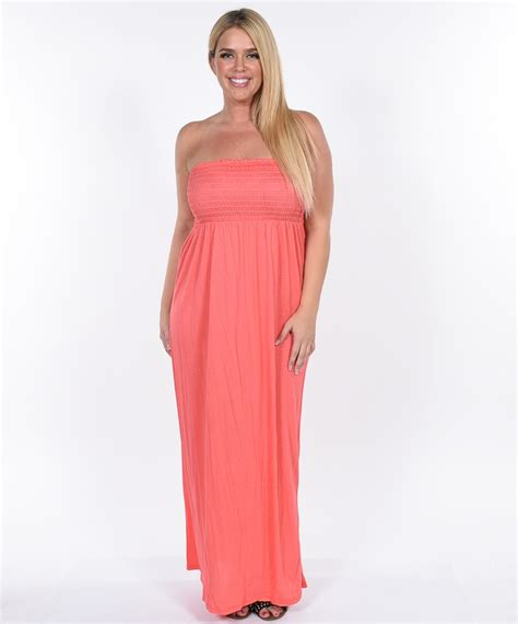 Coral Maxi by Coral Maxi Dress Strapless Www Pixshark Images