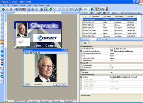employee id card design software free id card software for employee tag medical id and security
