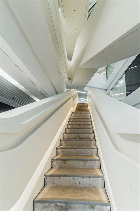 beige ceramic tiled corridor  building  stock