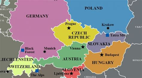 map of europe today pin central europe map on