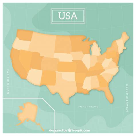 empty usa map design vector free