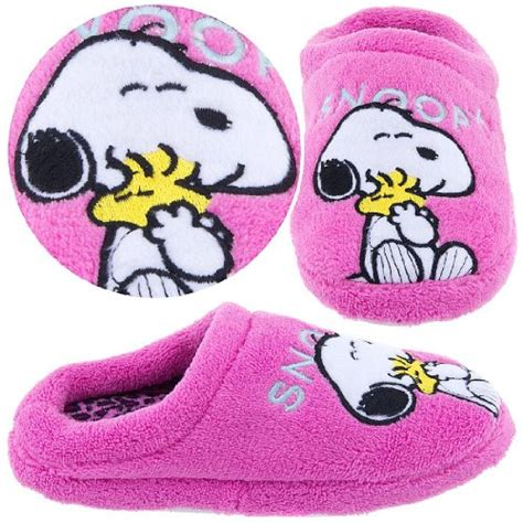 snoopy slippers plush animal slippers for discount snoopy pink