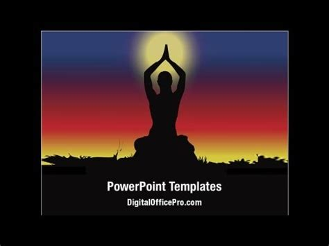 powerpoint templates yoga meditation yoga powerpoint template backgrounds