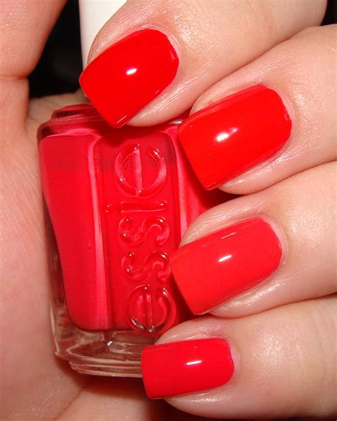 coral color nails bright nail bright coral nail