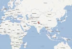 delhi on world map delhi map