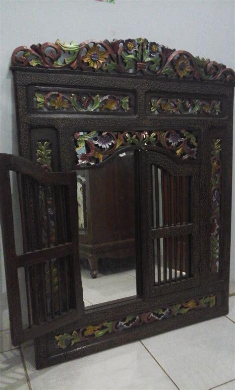 Cermin Jendela Jati jual cermin jendela kayu jati adlina collection
