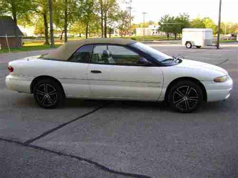 repair anti lock braking 1997 chrysler sebring electronic valve timing purchase used 1997 chrysler sebring jx convertible 2 door 2 5l in manchester tennessee united