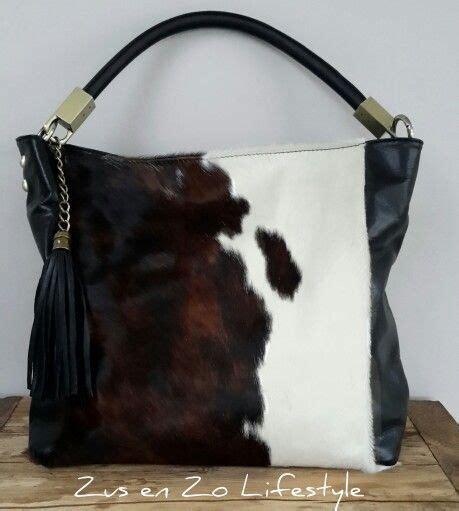 Fka Tas Tote Fashion Wanita Retro Canvas Bag tas met koeienhuid www zusenzolifestyle nl leuke stijl die ibizastijl met