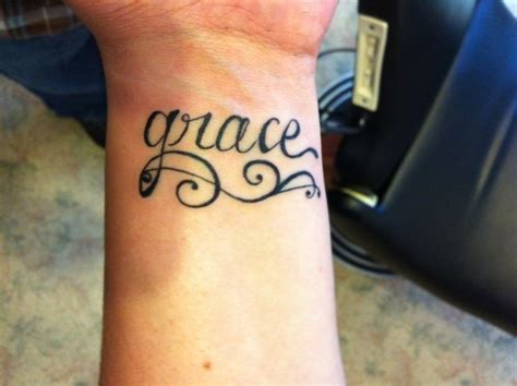 grace tattoo wrist wrist grace images ideas