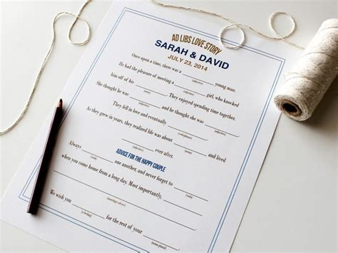 Wedding Album Repair by Free Printable Ad Libs For Wedding Showers Diy
