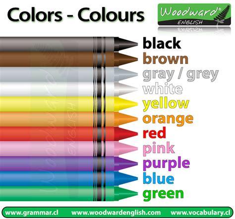 list of colours colors colours