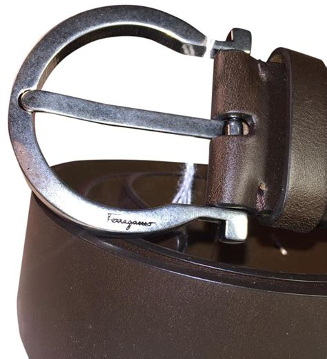 Salvatore Ferragamo 23 salvatore ferragamo s belt gancio hickory leather