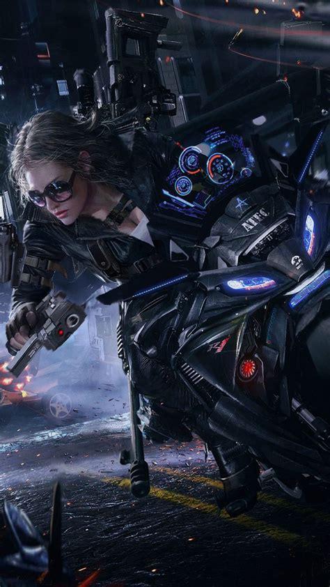 crossfire game girl bike cyberpunk girl cyberpunk