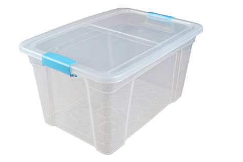32 litre plastic storage boxes with clip handle lids