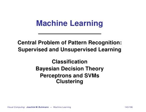 notes on pattern recognition and machine learning machine learning