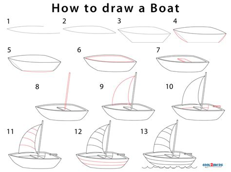 how to draw a boat step by step how to draw a boat step by step pictures cool2bkids