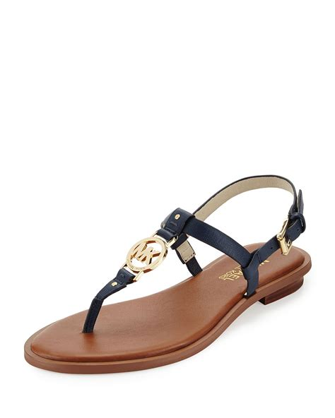 michael kors logo sandals michael michael kors logo sandal in blue