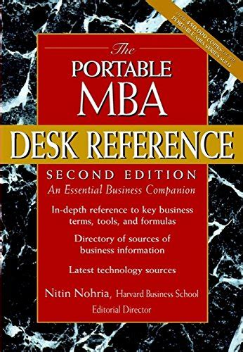 Portable Mba Series by Librarika The Portable Mba Desk Reference An Essential