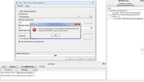 sextant job description qgis problems using v split in sextante toolbox to split