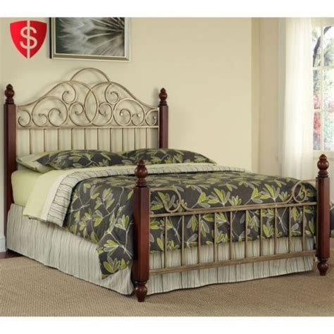 metal bed frame king size home style furniture headboard