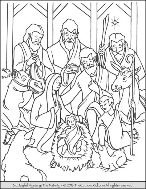 catholic nativity scene coloring pages the catholic kid catholic coloring pages and games for