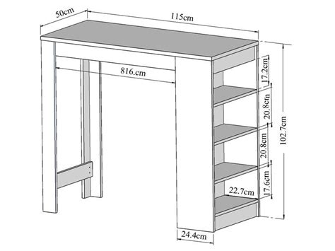 meuble cuisine bar rangement table bar avec rangement coloris blanc vente de table de