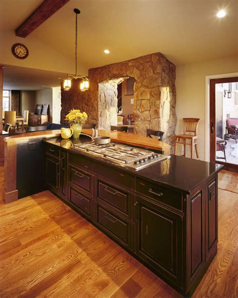 modern mountain kitchen design rustic kitchen denver modern mountain flair with stone archway and rustic