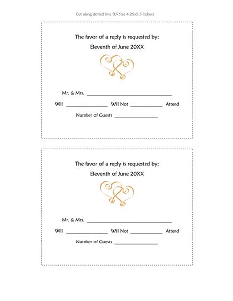 blank rsvp card template cards office