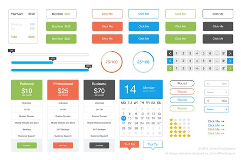 google design ui kit the flat user interface kit vector photoshop psd