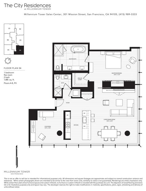 san francisco floor plans millennium tower skybox realty