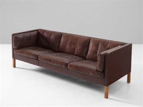 mogensen sofa borge mogensen sofa 2443 in dark brown leather for sale at