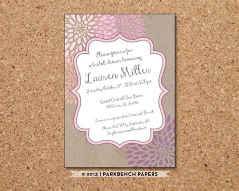 printable bridal shower paper editable bridal shower invitation kraft paper and