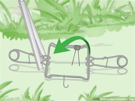 open conibear trap how to set a conibear trap 12 steps with pictures wikihow