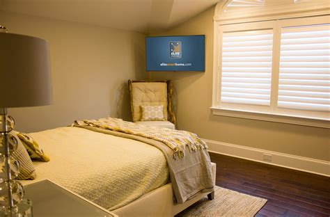 height of tv in bedroom when and how to place your tv in the corner of a room