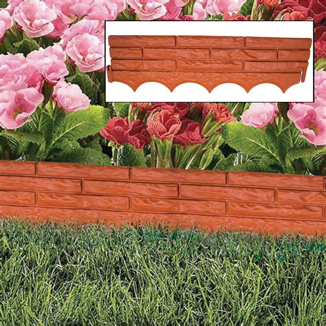 brick garden bed edging brick wall garden edging plastic lawn flower bed