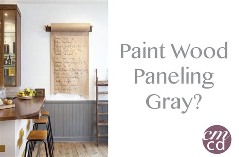 gray paneling painting wood paneling