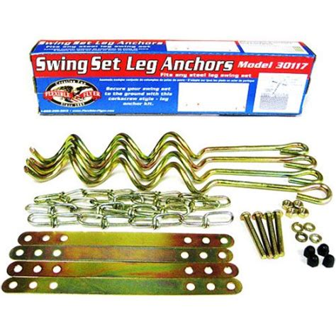 swing set ground anchor kit generic flexible flyer all purpose ground anchors