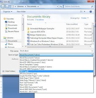 cara format ebook windows 7 cara mudah membuat ebook pdf menggunakan word 2007