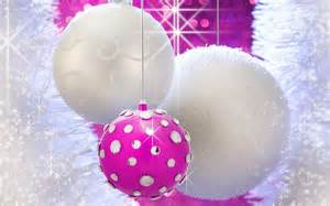 blinged out pink and white christmas ornaments wallpaper