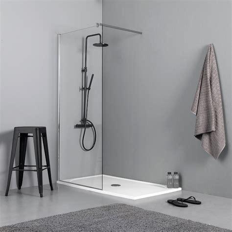 box per doccia a pavimento doccia walk in 90 cm per piatto doccia o filo pavimento