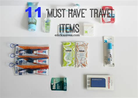 travel items 11 must travel itemsericka saves