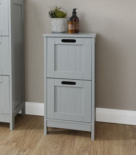 Colonial Bathroom Furniture Grey 2 Drawer Slim Chest One Stop Furniture Shop