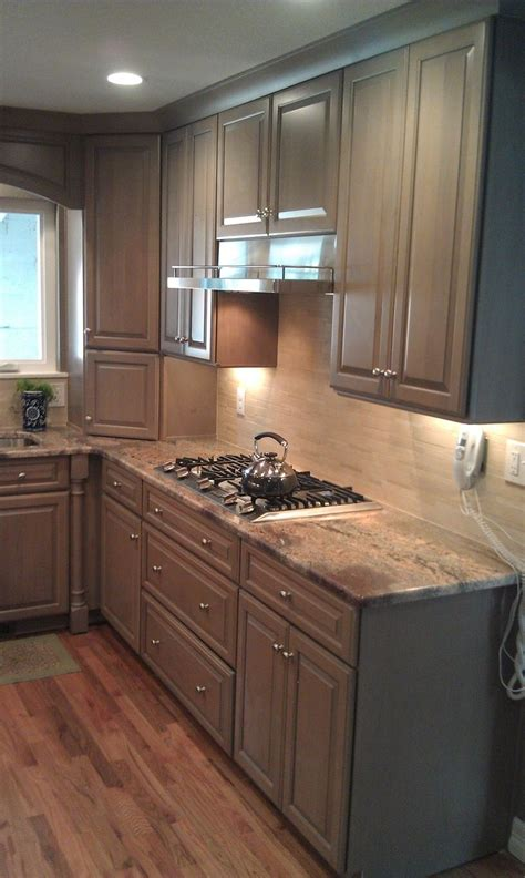 grey kitchen cabinets and wood floors kitchen
