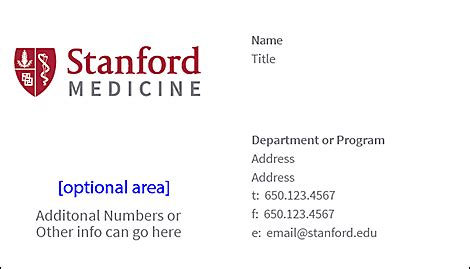 Stanford Business Cards